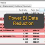 Data reduction techniques for Power BI dataset